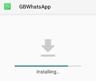 installing update gbwhatsapp