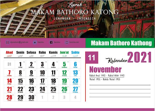 Kalender 2021 Bulan November