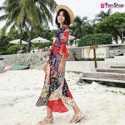 Shop bán váy maxi đi biển tại Ba Vì