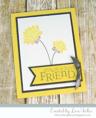 One--of-a-Kind Friend card-designed by Lori Tecler/Inking Aloud-stamps from Papertrey Ink