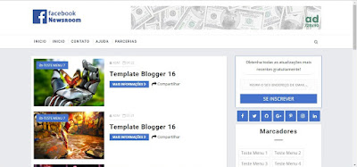 Facebook Newsroom Blog Blogger Template