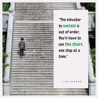 Funny Positive Attitude Quotes for Work - 1234bizz: (The elevator to success is out of order. You'll have to use the stairs, one step at a time - Joe Girard)