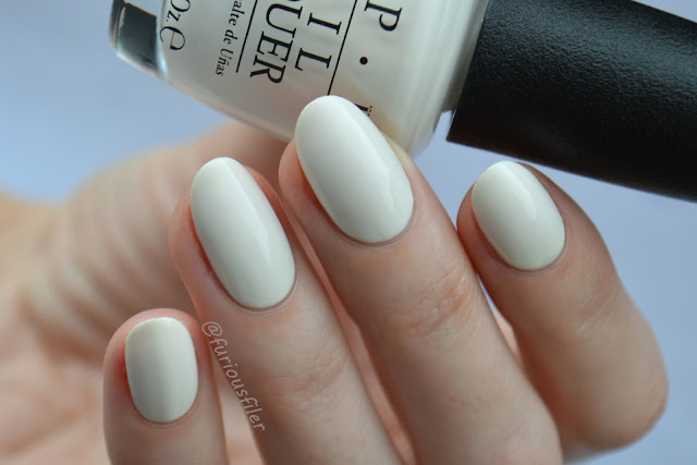 opi it's in the cloud creme swatch review
