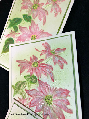 Sara Emily Barker https://sarascloset1.blogspot.com/2020/12/poinsettia-embossing-with-oxides.html 3D Poinsettia Christmas Cards #timholtz #3dpoinsettia #christmas 3