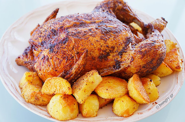 Roast Chicken and Oven Fried Potatoes