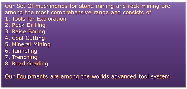 Stone Mining Euipments Rental Services