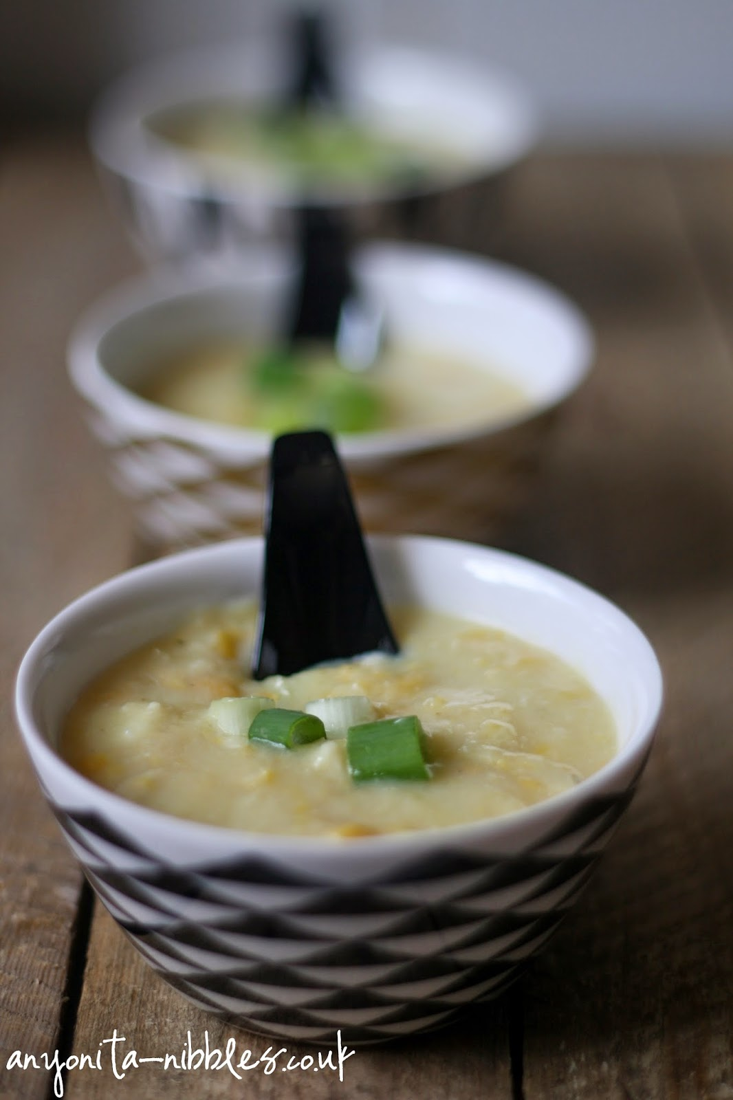 Gluten Free Creamy Chinese Chicken & Sweetcorn Soup from Anyonita-nibbles.co.uk