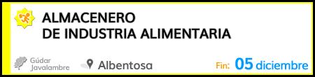 Almacenero de industria alimentaria en Albentosa