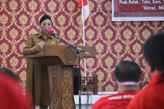 Hadiri Pelantikan DPC, Bupati Karolin Ajak PBB Berkontribusi Membangun Kabupaten Landak
