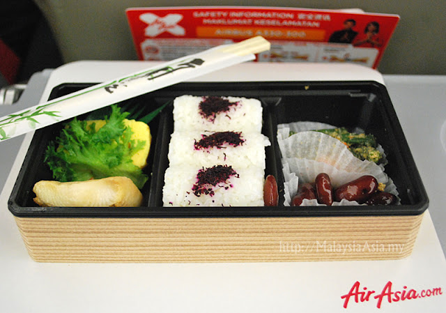 Japanese Bento Set on Air Asia X