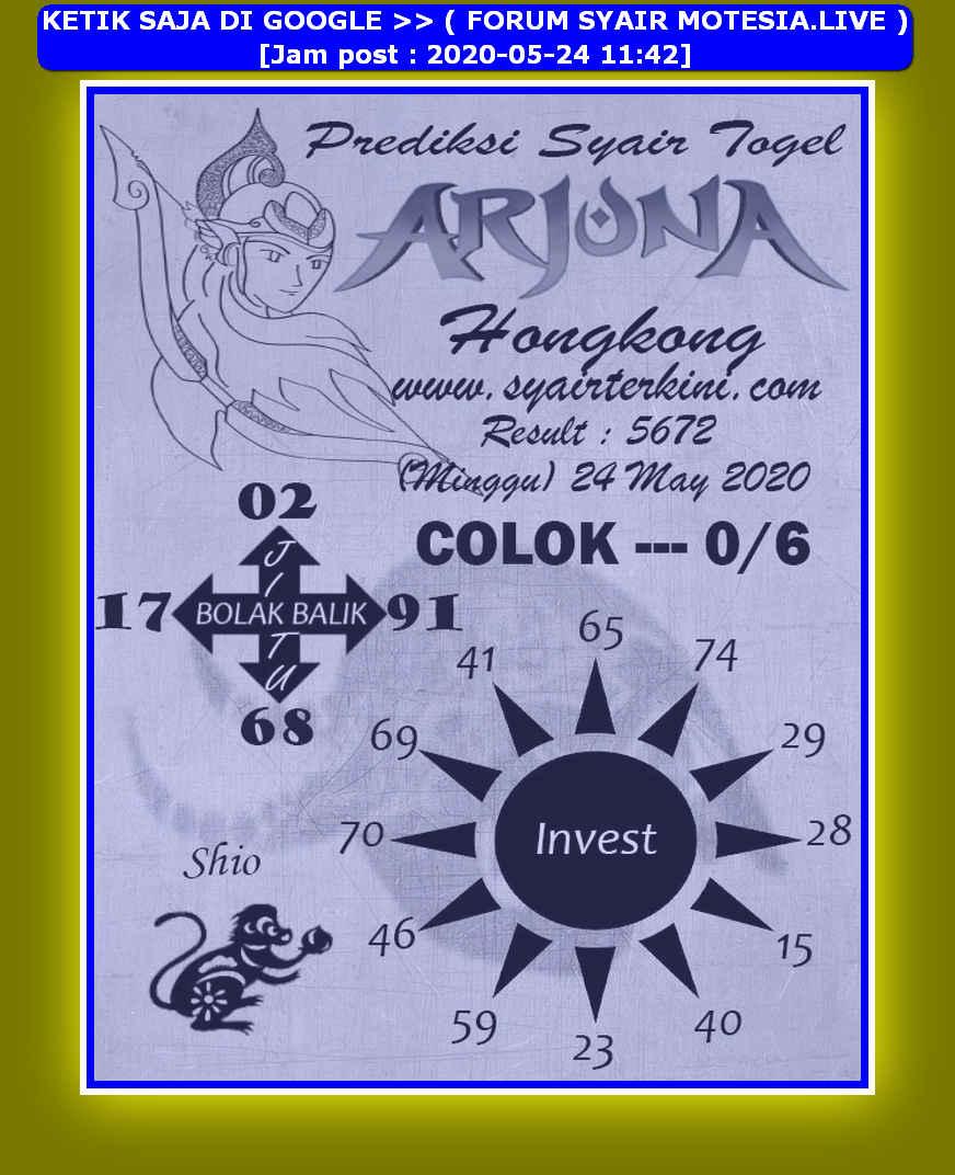 Kode syair Hongkong Minggu 24 Mei 2020 165