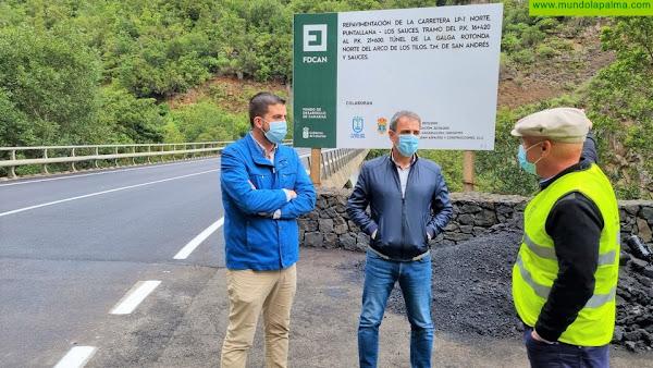 El Cabildo concluye la repavimentación de la carretera del Norte entre Los Galguitos y el puente de Los Tilos