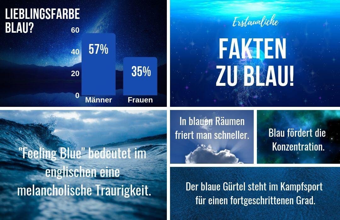 Blau-kombinieren-Modefarbe-Infografik