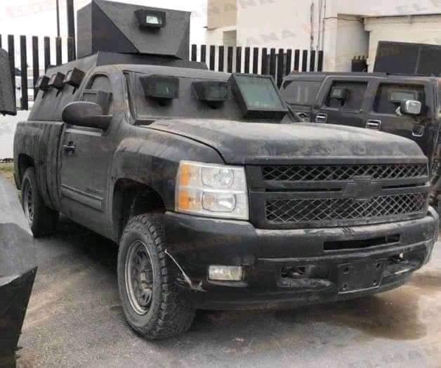 Fotos: Así son las Camionetas blindadas decomisadas al CDG tras enfrentamiento con GOPES en Comales, Tamaulipas