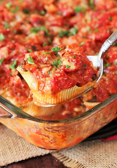25+ Dinner Recipes with Macaroni, Pasta & Noodles - Stuffed Shells Image