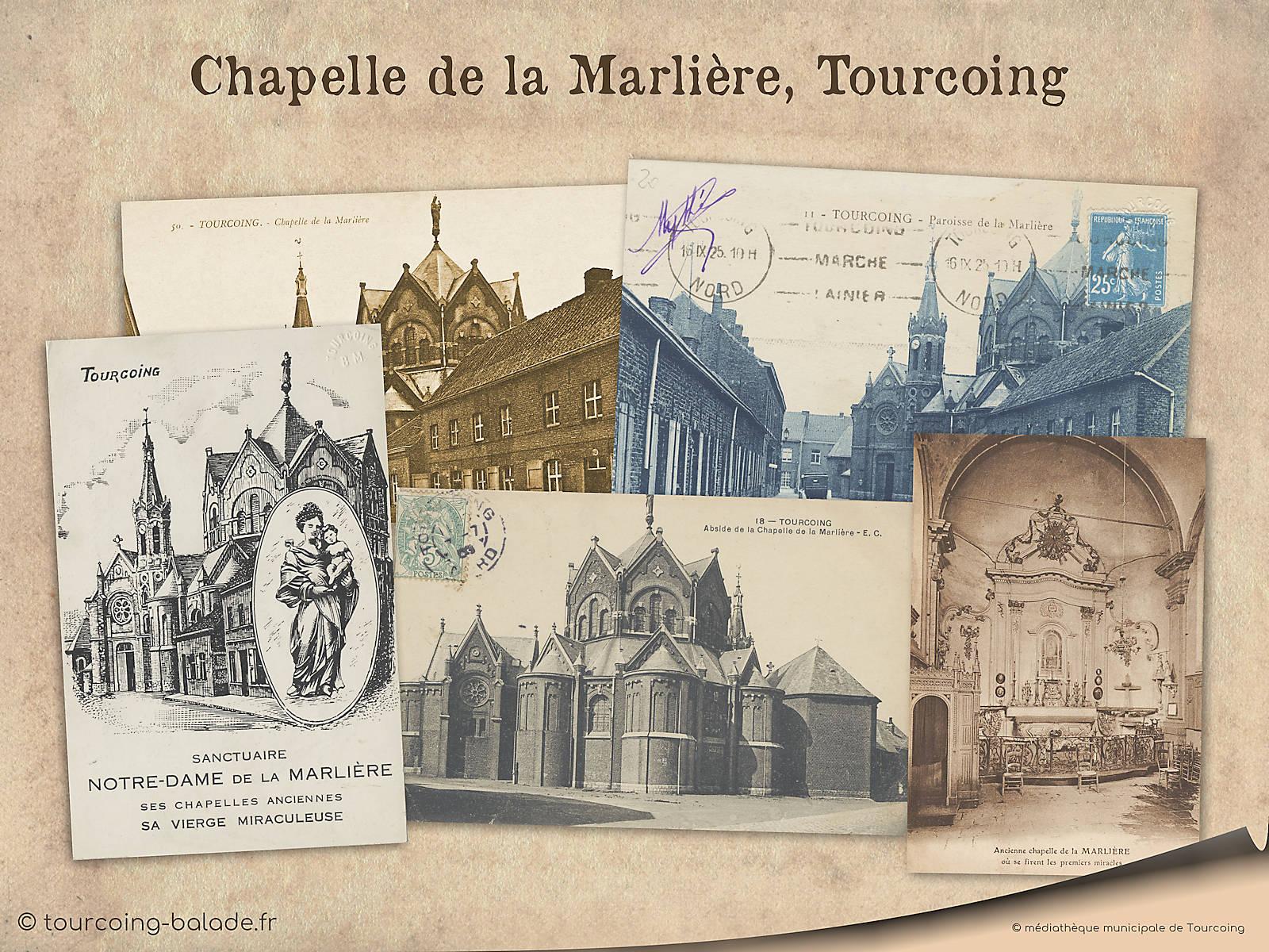 Cartes Postales - Chapelle église de la Marlière, Tourcoing