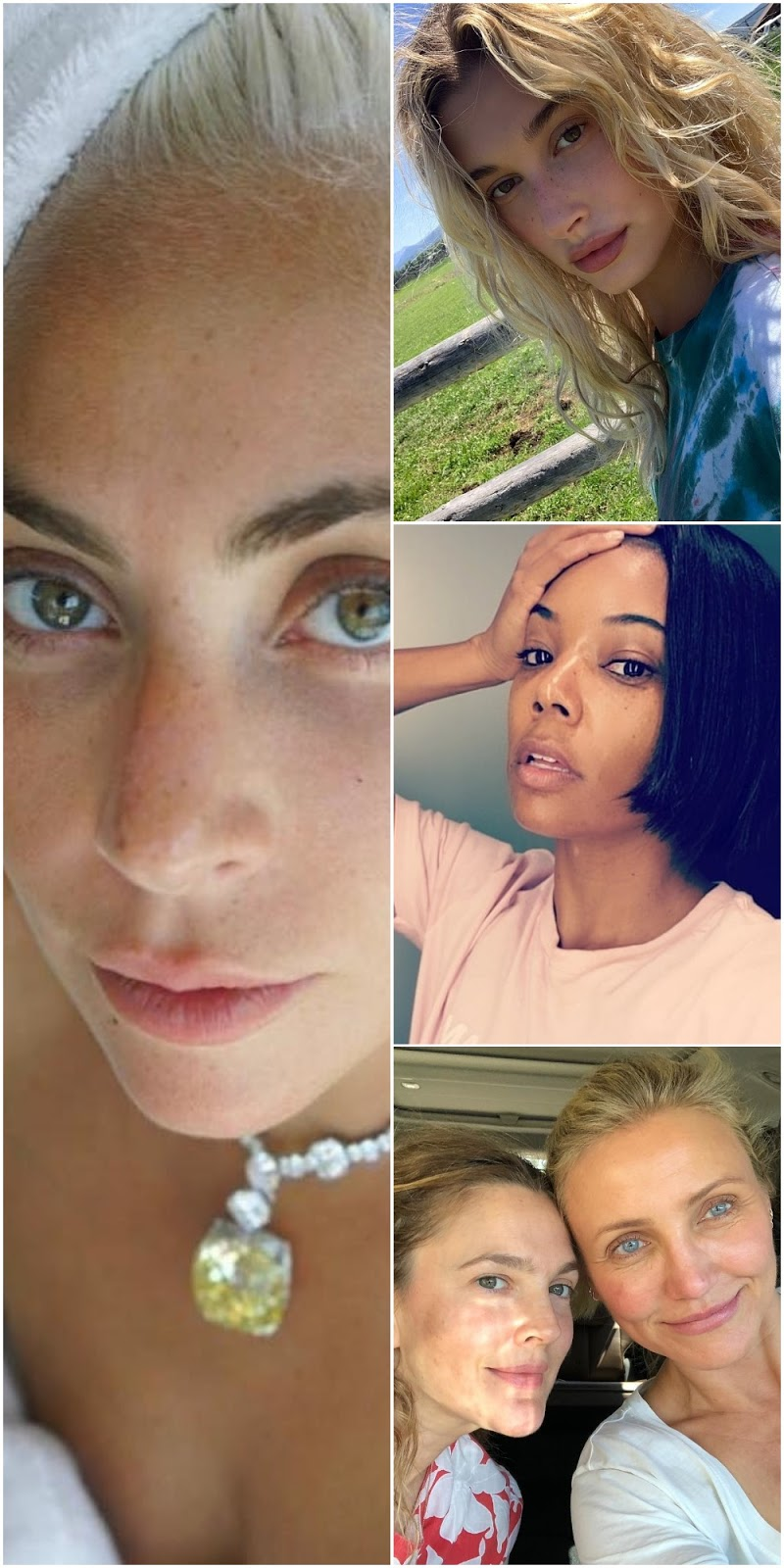 Top 10 Most Stunning Makeup-Free Celebrity Selfies