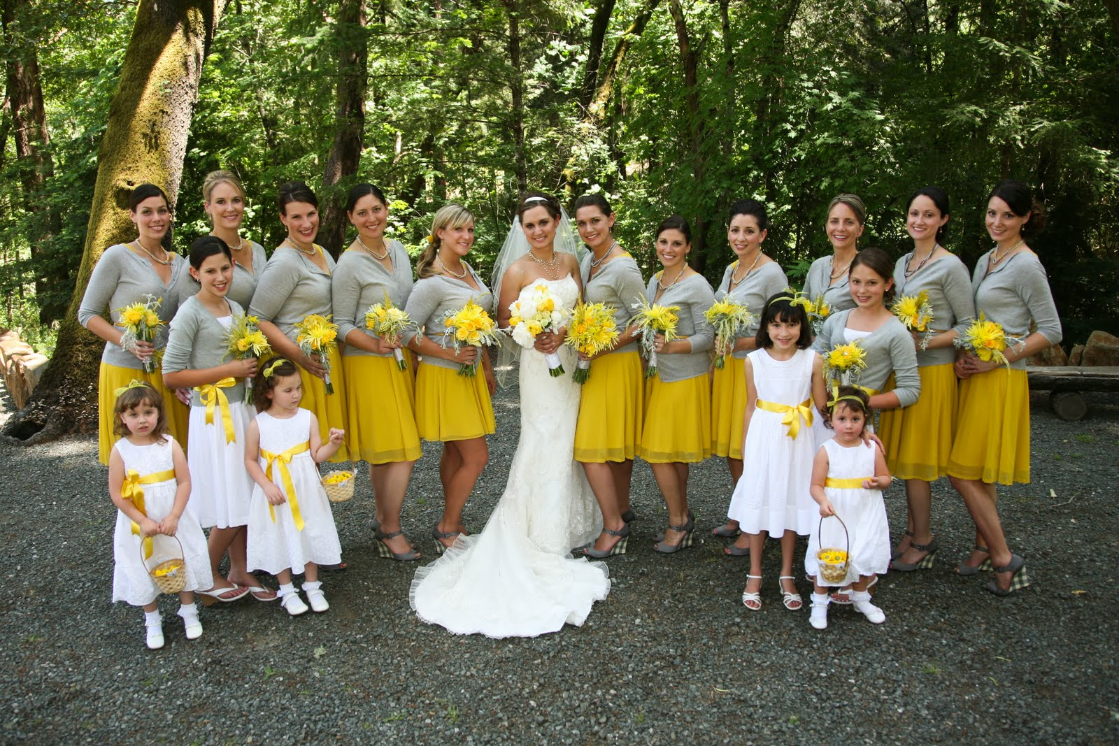 Exquisite Blooms: Yellow and Gray weddings