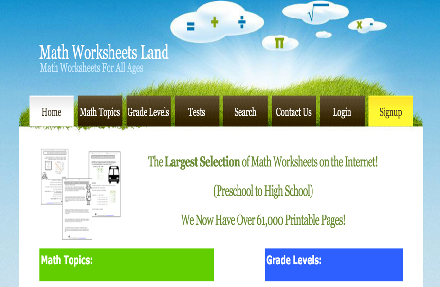 math worksheet : over 50 000 printable math worksheets for teachers  educational  : Teachers Math Worksheets