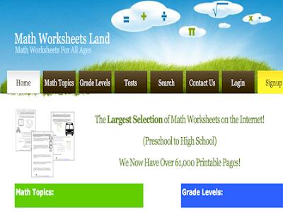 Over 50.000 Printable Math Worksheets for Teachers