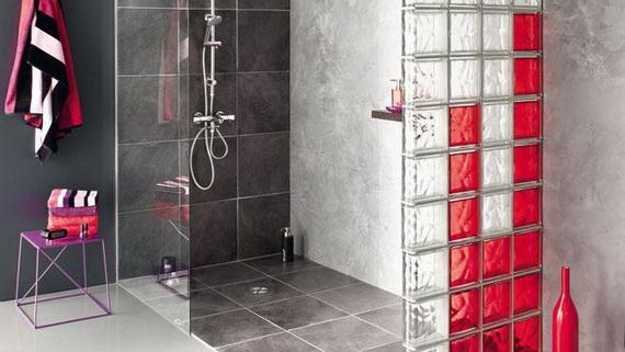 l gants murs en briques de verre pour d corer les douches modernes d cor de maison. Black Bedroom Furniture Sets. Home Design Ideas