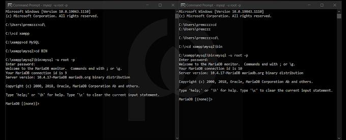 Perintah - Perintah Dasar Pembuatan Database MySQL di CMD