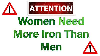 Attention! Women need more iron than men