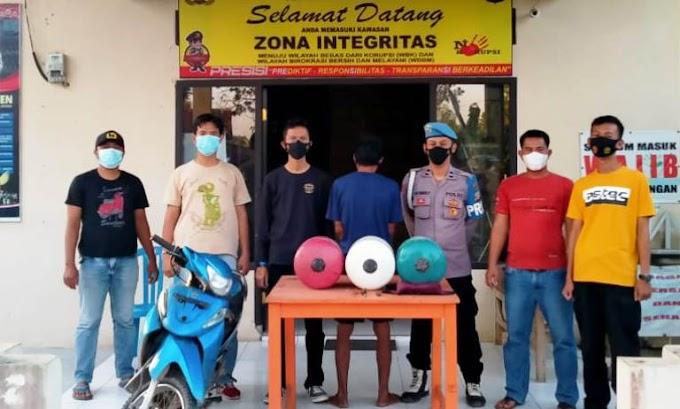 Di Perumahan; Curat Septor Tanpa Plat Nopol & Pompa Air, Pelaku Ditangkap!