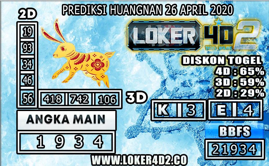 PREDIKSI TOGEL HUANGNAN LOKER4D2 26 APRIL 2020
