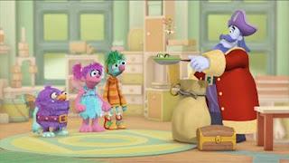 Abby's Flying Fairy School Treasure Hunt, Abby Cadabby, Blögg, Gonnigan, Captain Hook, Sesame Street Episode 4403 The Flower Show season 44