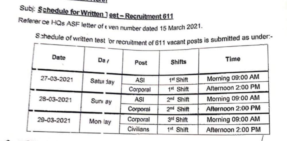 ASF Jobs 2021 - Airport Security Force Jobs 2021 - ASF Careers - ASF Vacancies - ASF Written Test Date 2021 - ASF Recruitment - ASF Hiring - joinasf.gov.pk -  ASF Airport Security Force Written Test 2021