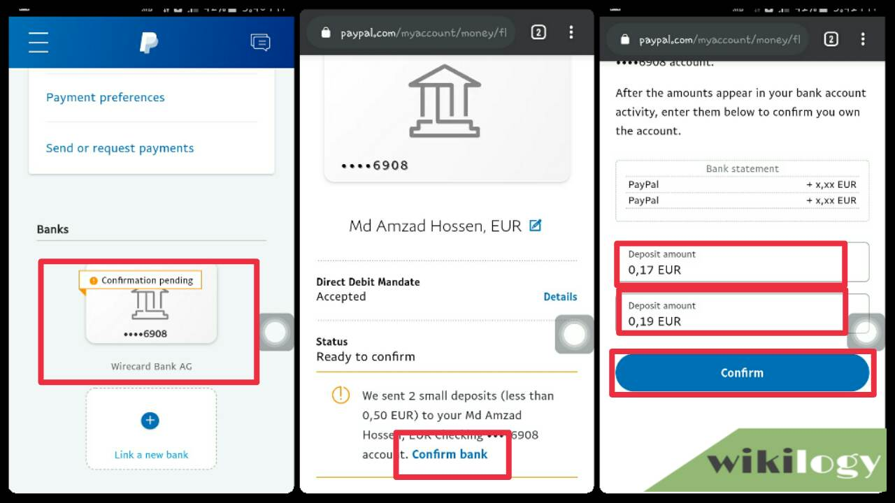 Putting 2 small deposit in PayPal sent to Payoneer