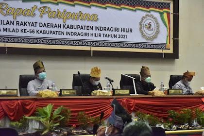 Dengan Protokol Ketat, DPRD Gelar Rapat Paripurna Istimewa Milad ke-56 Inhil