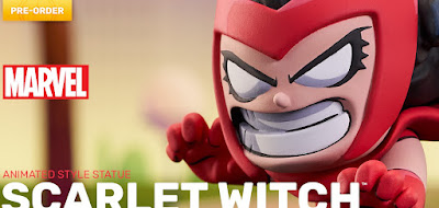 Scarlet Witch Animated Marvel Mini Statue by Skottie Young x Diamond Select Toys x Gentle Giant