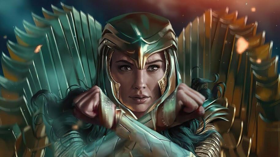 Wonder Woman 1984, Golden Eagle Armor, Art, 4K, #3.2321