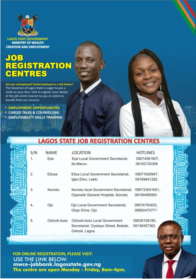 Lagos State Job Bank Registration Portal & Centers 2021