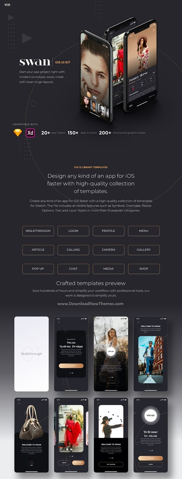 mobile app sketch template