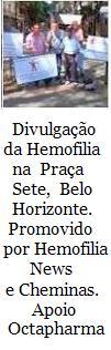 DIVULGAÇÃO DA HEMOFILIA EM BH