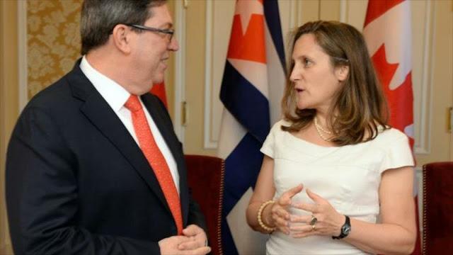 Cuba pide a Canadá que actúe contra crueles sanciones a Venezuela