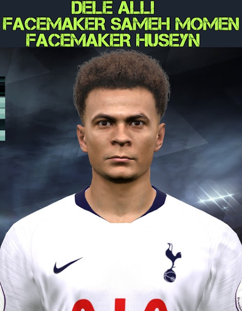 Dele Alli Face Hair 2019 For PES 2017