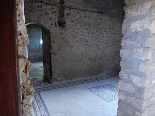 ポンペイ遺跡のモザイク