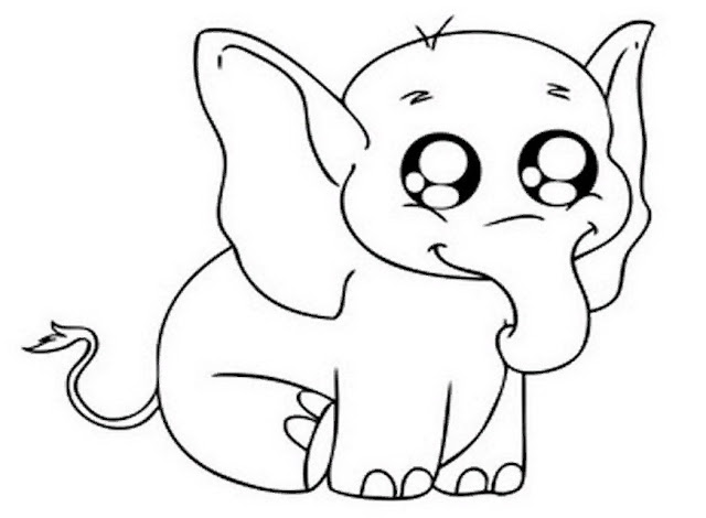 Sketsa Hewan Gambar Gajah