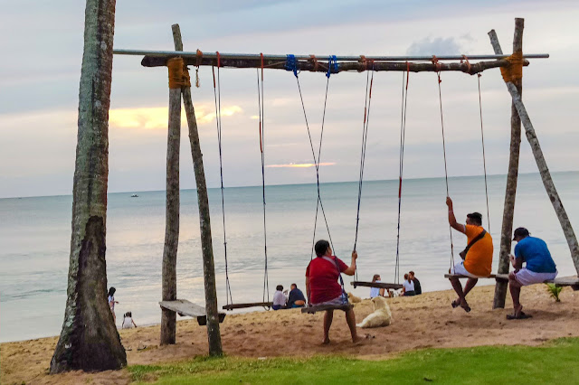 Swing area for kids and kids-at-heart, Calilayan Cove