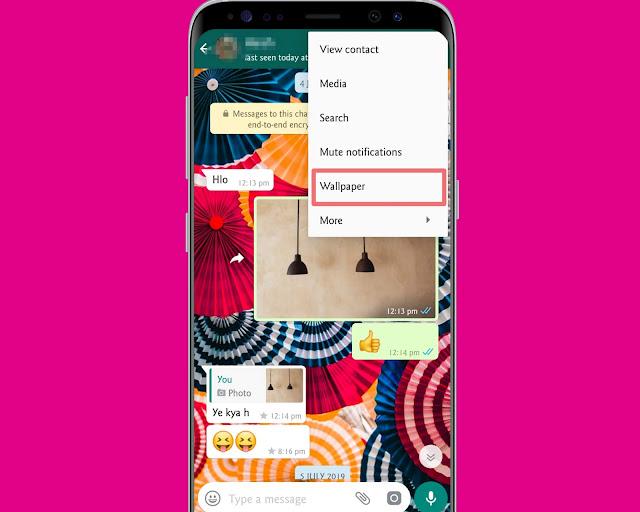 Set A Wallpaper  - WhatsApp tricks