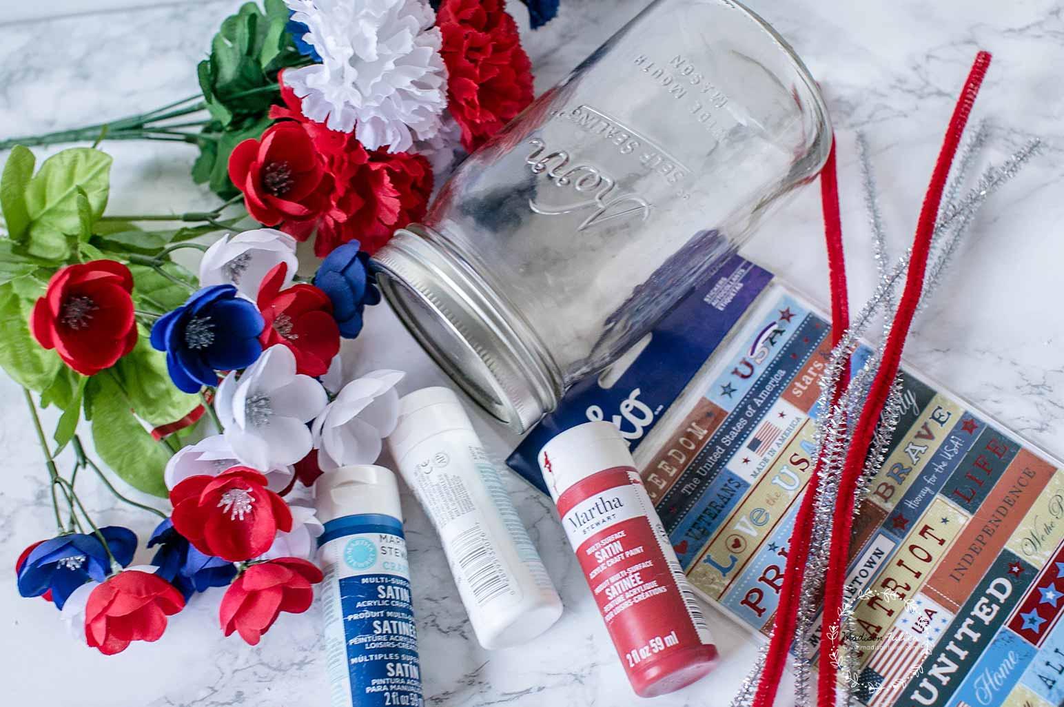 4th July Mason Jar Supplies