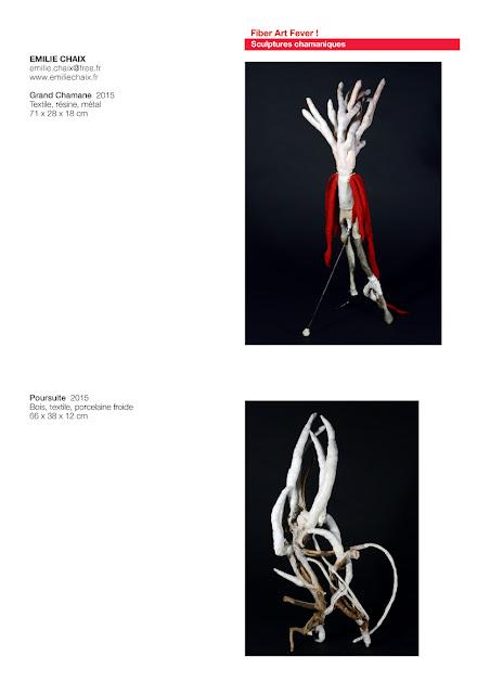 Sculptures organiques, art textile contemporain