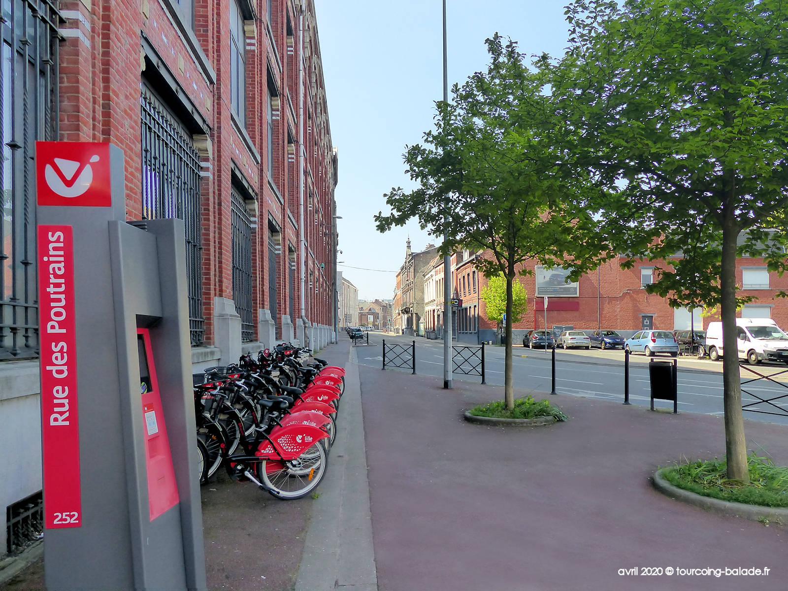 Station V'Lille Rue des Poutrains, Tourcoing - 2020