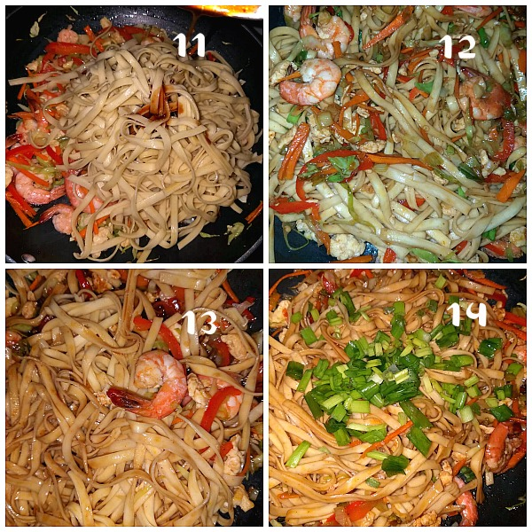 steps to make easy shrimp lo mein recipe
