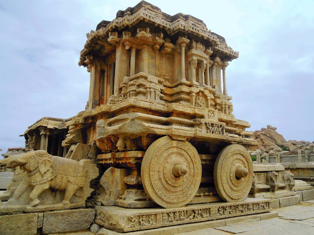 Stone chariot at the Vittala Temple, Hampi