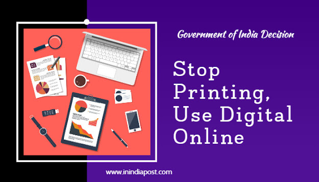 Stop printing in physical format, use digital online
